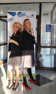 Iniţiatoarele Galei Voluntariatului Giurgiu: Lăcrămioara OCUNSCHI şi Mariana MITROI