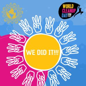 World Cleanup Day 2018 - s-a terminat cu succes. Peste 150 de tări au participat, lăsând lumea mai curată. Următoarea provocare: Să o păstrăm curată